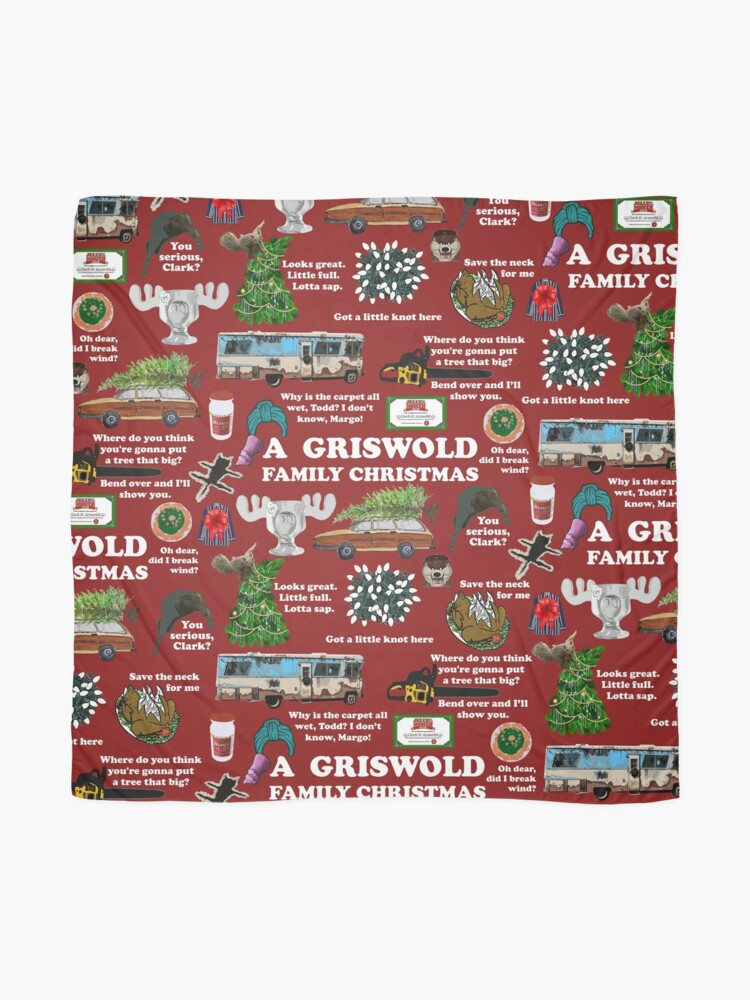 Alternate view of Christmas Vacation Collage Scarf