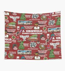 Christmas Vacation Collage Wall Tapestry