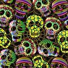 Sugar Skulls Pattern by BluedarkArt