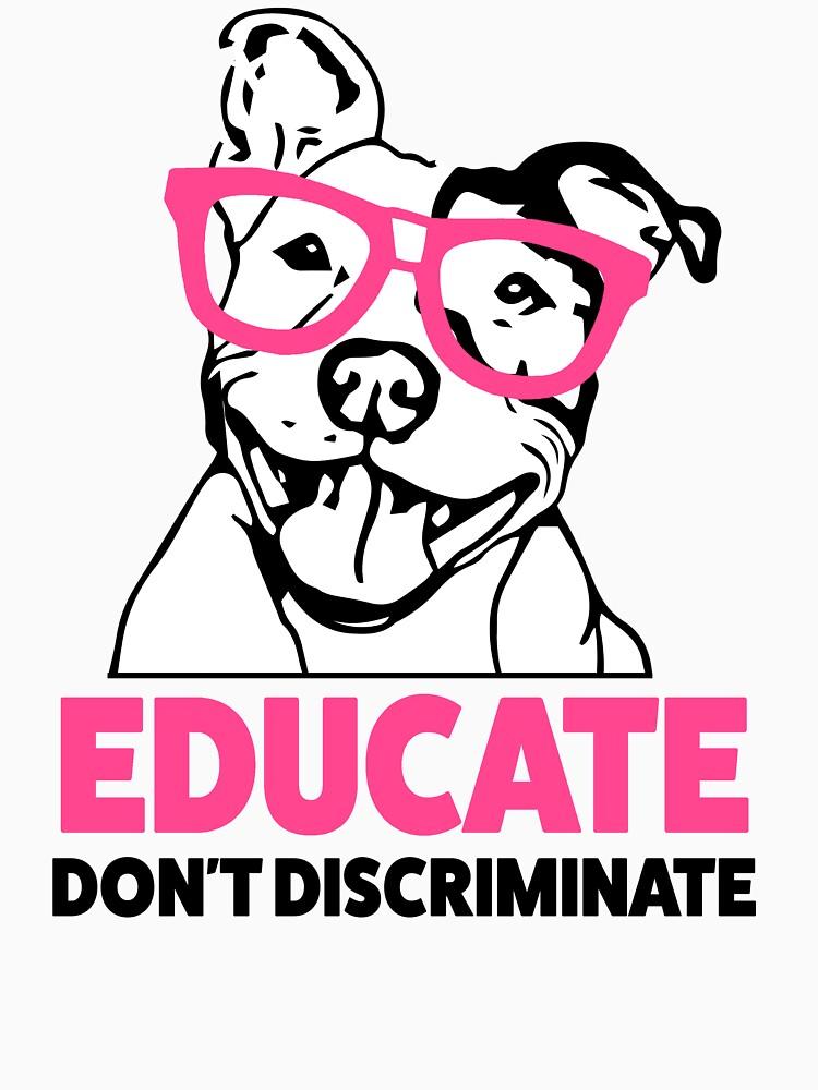 Erziehen Sie nicht das Hemd der Pitbull-Bewusstseinsfrauen diskriminieren von worksaheart