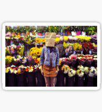 flowers & happiness Sticker