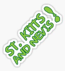 St Kitts & Nevis Exclamation Design Sticker