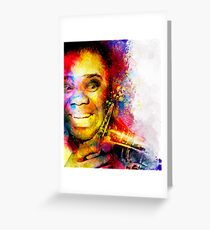 Satchmo Louis Armstrong Greeting Card