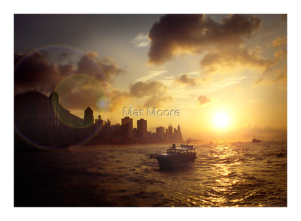 "' Hong Kong Harbour "" by Mat Moore"