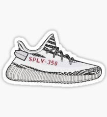 Yeezy 350 Boost Zebra Minimalist Illustration  Sticker