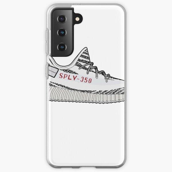 Ilustración minimalista Yeezy 350 Boost Zebra Funda blanda para Samsung Galaxy