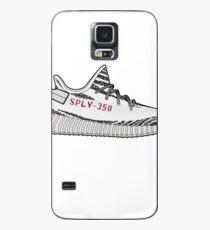 Yeezy 350 Boost Zebra minimalistische Darstellung Hülle & Klebefolie für Samsung Galaxy