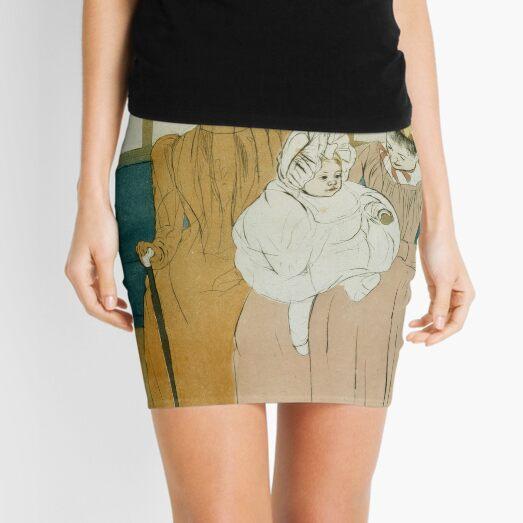 In the Omnibus by Mary Cassatt Mini Skirt
