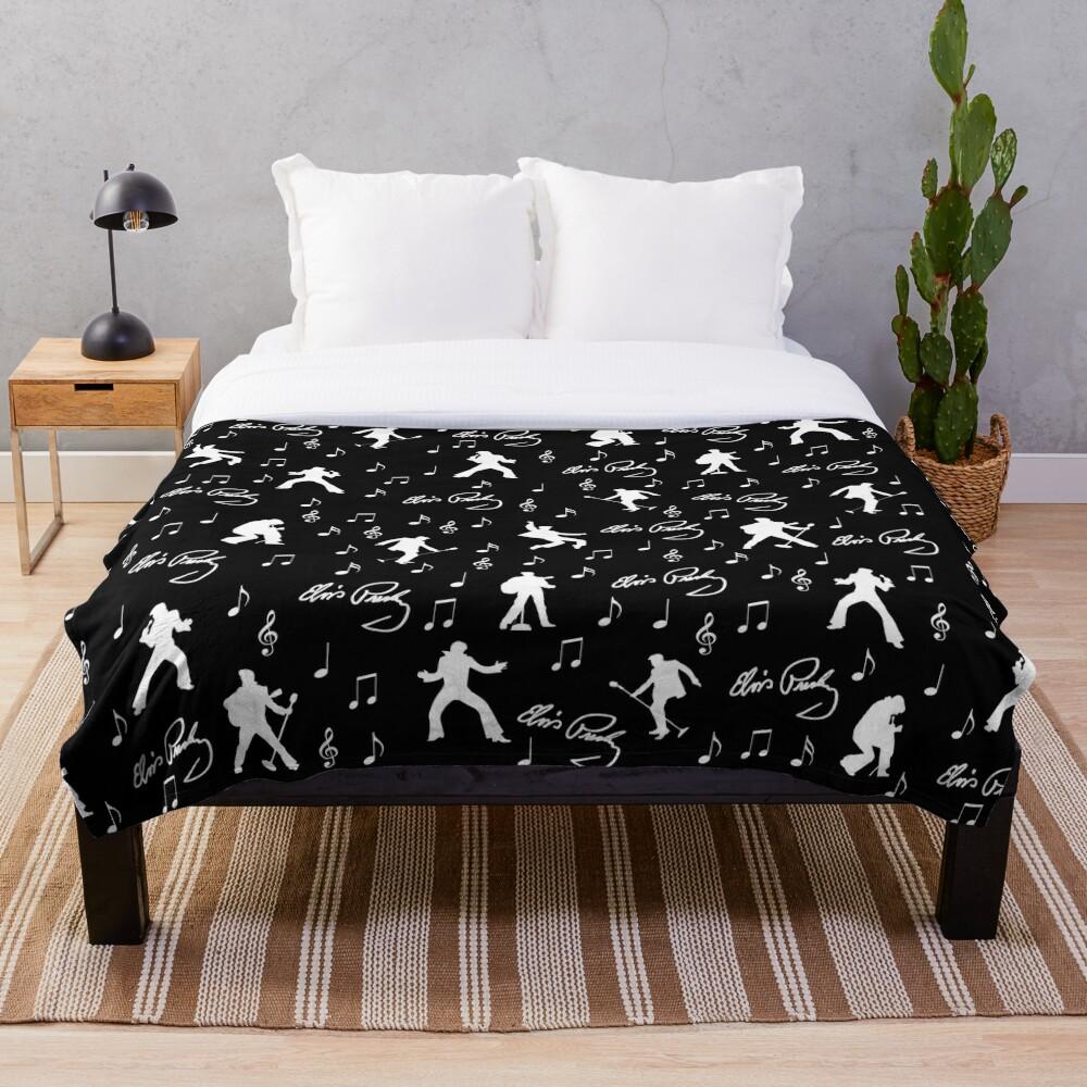 Elvis Presley pattern Throw Blanket