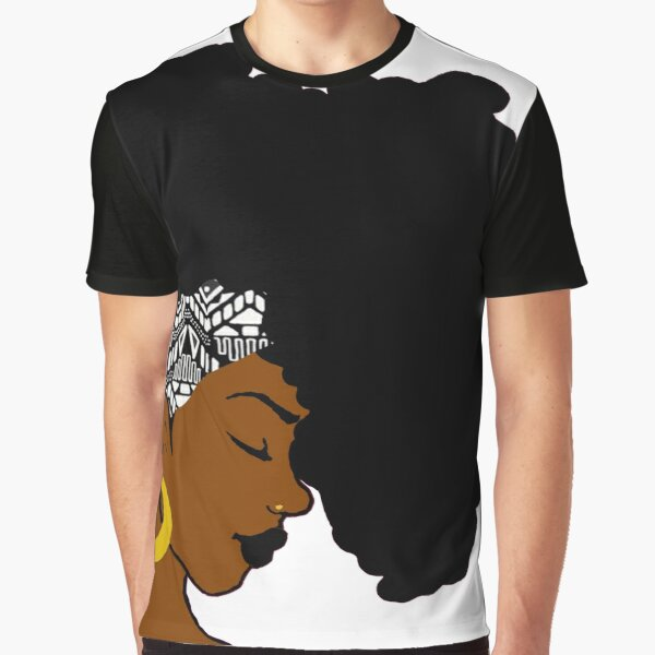 Fro African B&W Graphic T-Shirt