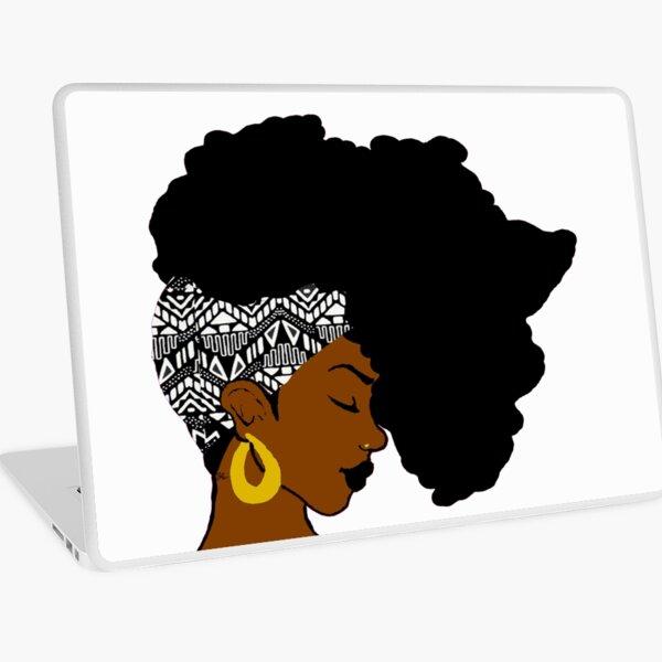 Fro African B&W Laptop Skin
