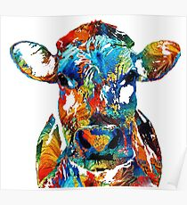 Cow color Poster