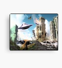 SCIFI CITY Canvas Print