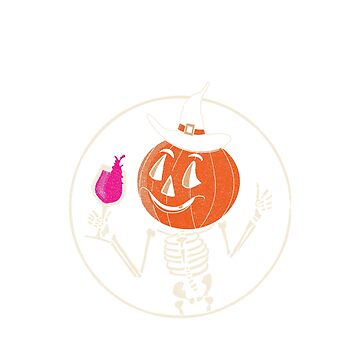 Happy Halloween, Hallowine Pumpkin Head Shirt for wine lovers. by KnockoutTees