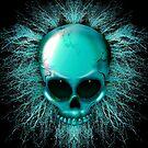 Skull Ghost Hologram Monster  by BluedarkArt
