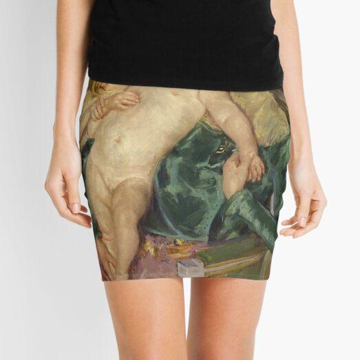The Caress by Mary Cassatt Mini Skirt