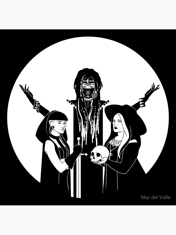 Three Witches: Never Hide - Tres Brujas by mardelvallearts