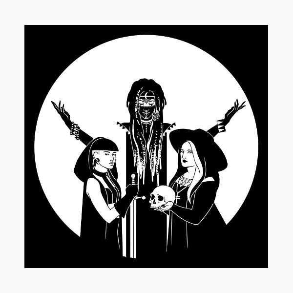 Three Witches: Never Hide - Tres Brujas Photographic Print