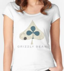 Grizzly Bear - Shields (Light Text) Women's Fitted Scoop T-Shirt