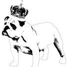 English Bulldog and Crown by thesamba