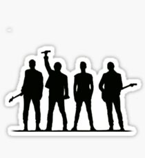 U2 silhouette The Joshua Tree Tour Sticker