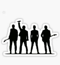 U2 silhouette The Joshua Tree Tour Sticker