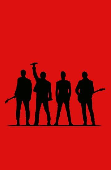 U2 silhouette The Joshua Tree Tour von thequeenssavior