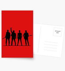 U2 silhouette The Joshua Tree Tour Postkarten