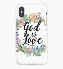 Christian Quote - God Is Love - 1 JOHN 4:16 iPhone Case/Skin