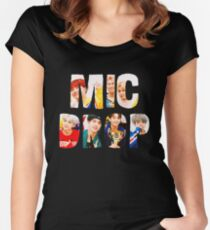 BTS Bangtan Mic Drop  Women's Fitted Scoop T-Shirt