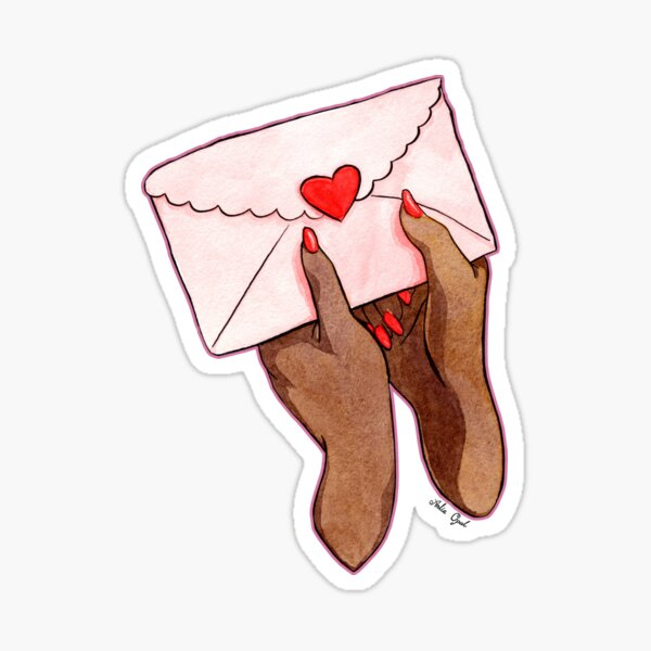 Love Love Love Watercolor Illustration Sticker