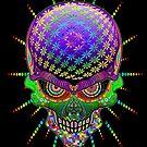 Crazy Skull Psychedelic Explosion by BluedarkArt