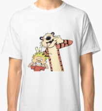 Calvin and Hobbes Making Faces Classic T-Shirt
