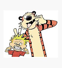 Calvin and Hobbes Making Faces Photographic Print