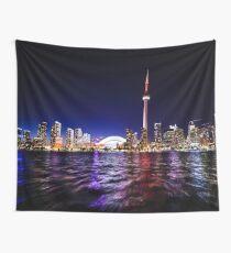 Toronto Night Skyline  Wall Tapestry