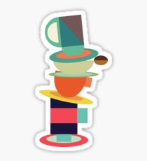 Coffee and Tea Sticker