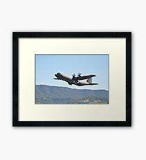 Albion Park Airshow 2017-C130J A97-464 climbout Framed Print