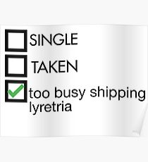 too busy shipping lyretria Poster