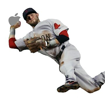 Dustin Pedroia throwing apple by Nolan12