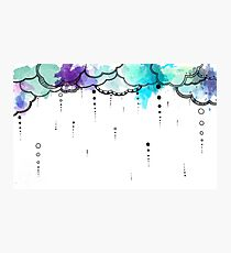 Watercolor Clouds Photographic Print