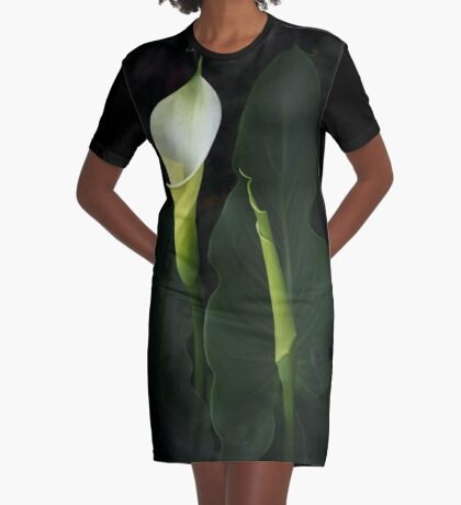 The Goddess Lily Graphic T-Shirt Dress