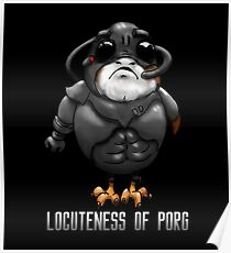 Locuteness of Porg Poster