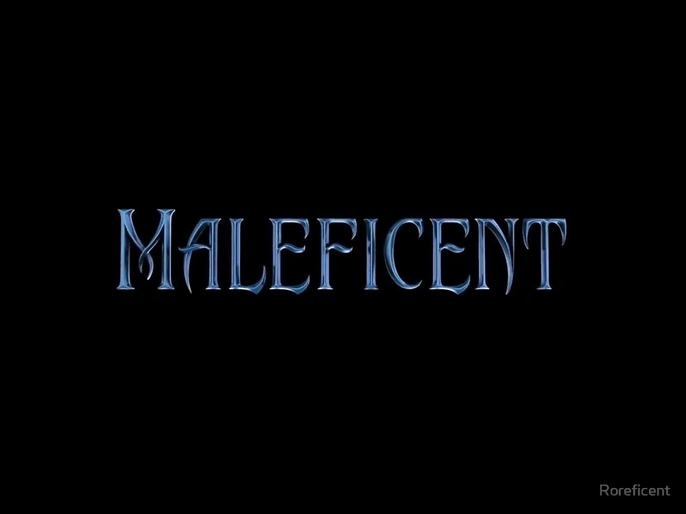 Maleficent Logo By Roreficent Redbubble