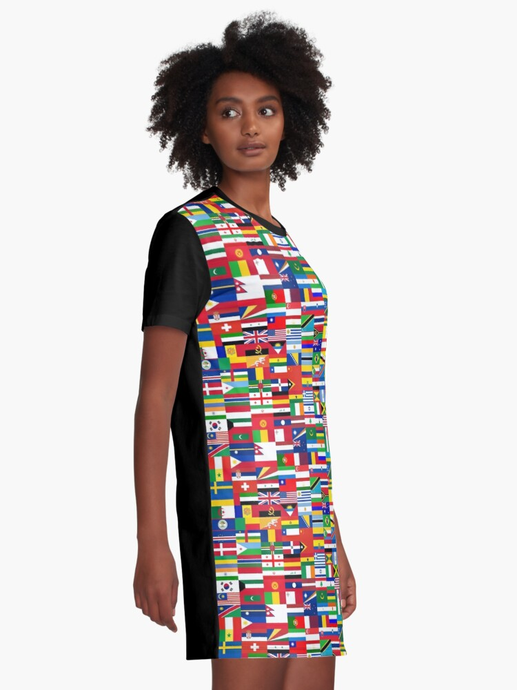 Alternate view of FLAG ME-WORLD FLAGS Graphic T-Shirt Dress