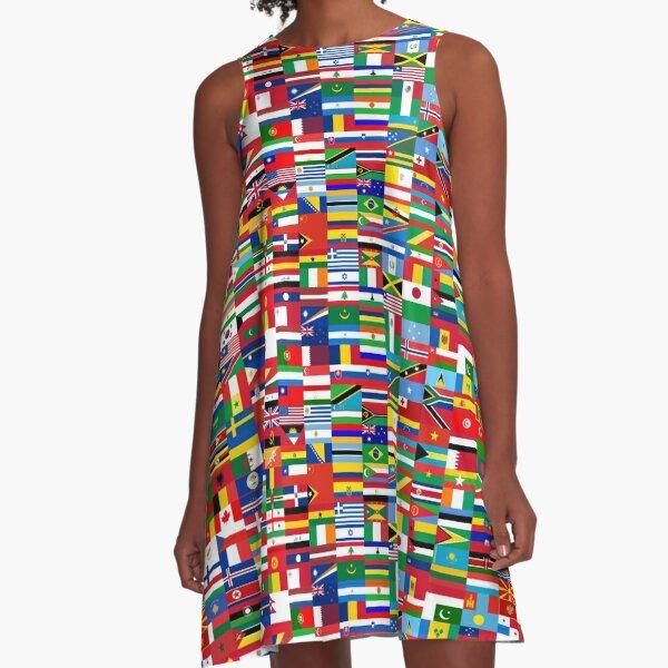 FLAG ME-WORLD FLAGS A-Line Dress