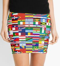 FLAG ME-WORLD FLAGS Mini Skirt