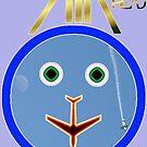 AIR HEAD Design-Moon & plane, Avalon 2013  by muz2142