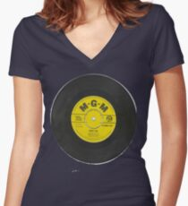 Rocknrol 'T's 'Mona Lisa' Conway Twitty Women's Fitted V-Neck T-Shirt