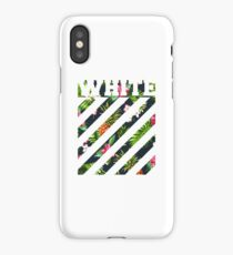 offwhite logo floral iPhone Case/Skin