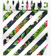 offwhite logo floral Poster